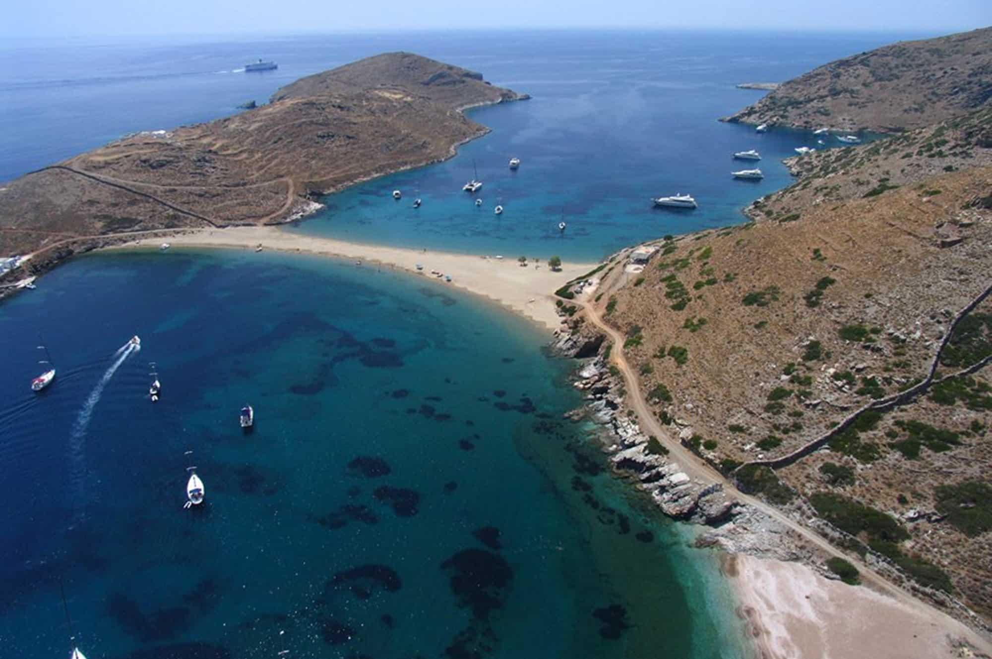 kolones beach kythnos day cruise from athens